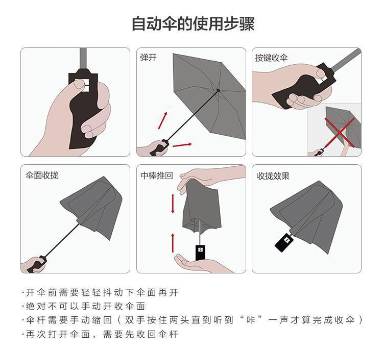 全自动伞使用说明