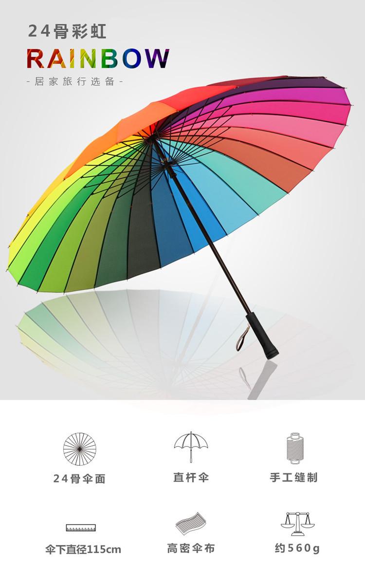 24骨直杆伞