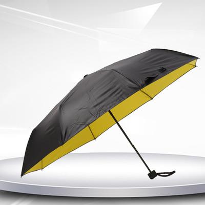 黑胶三折叠广告伞